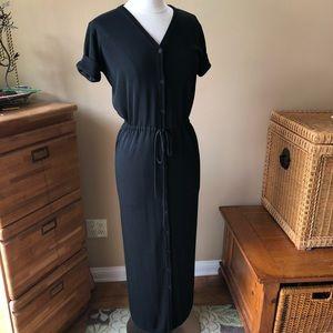 Ellen Tracy Linda Allard Black Knit Maxi Dress